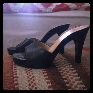 Charles Jourdan slides / heels NWOT
